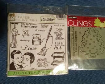 Lot of two cling stamp sets