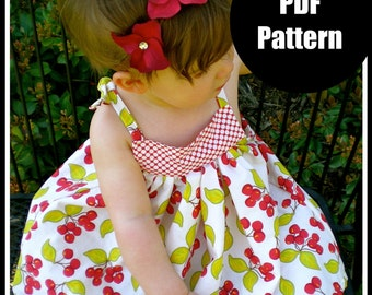 "Girls Dress Pattern, Baby Dress Pattern, Sewing Patterns, PDF Sewing Pattern, Easy Sewing PDF Patterns  ""Babydoll Dress"""