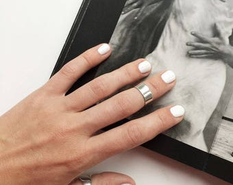 Smooth ring, sterling silver ring, wide silver ring, plain ring, nice ring, women silver ring, unisex ring, glossy silver ring, large ring