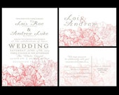 Wedding Invitations, personalized wedding invitation, hydrangea wedding invite, budget invitations