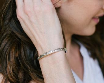 Dainty Bracelet - Bracelet Femme - Silver Cuff Bracelet - Bridesmaid Jewelry - Sterling Silver Bracelet - Bracelets for Women - Everyday