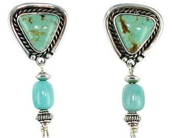 40% Off Earring Sale : ) KINGMAN TURQUOISE EARRINGS Aqua New World Gems