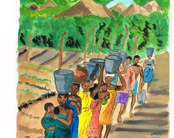 carrying water ( South Africa )   by Colette Withington 2005