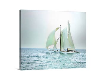 Sailboat Print, Nautical Art, Sailing Art, Sailboat Photograph, Pacific Ocean Art, Sailing Ship, Canvas Art Print, Blue Art, Sailor Gift