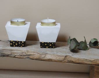 Two candlesticks concrete Clari-concrete door decor candle-concrete concrete gift home decor mothers day