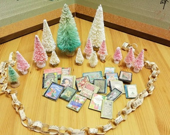 Christmas decorations. DIY mini Christmas decorations