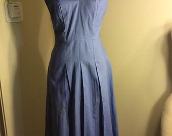 1940s 1950s Vintage Deadstock Chambray Sundress