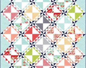 Spun Sugar PDF Digital Quilt Pattern by Pieced Just Sew, Fat Quarter Friendly