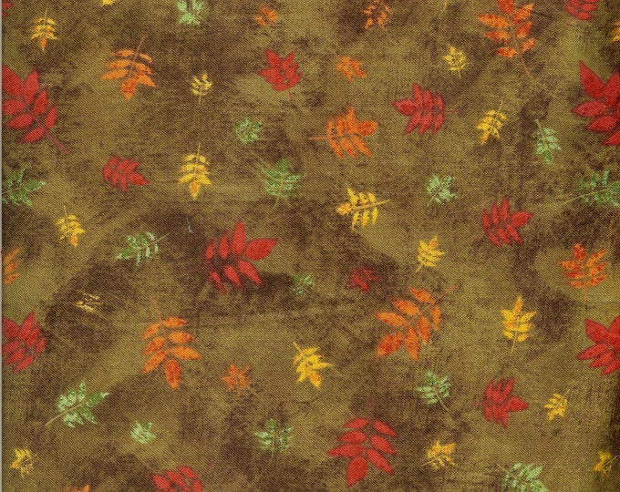 Leaf Toss cotton fabric- sold by the yard  #184