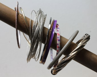 Destash Bangle Lot of 10, Bangles, Bulk Bracelets, Jewelry Lot, Bracelet Lots, Bangle Forms, Craft Bracelets, Bracelets, Artwear Elements®