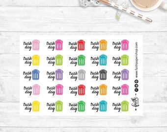 Garbage Stickers, Chore Stickers, Planner Stickers, Reminder Stickers, Happy Planner, ECLP stickers, Functional Stickers, Mini Happy Planner