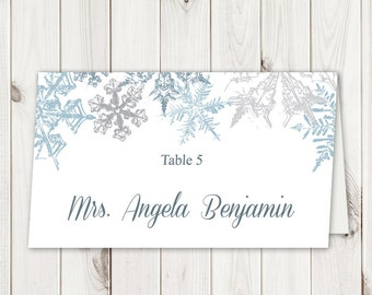 Christmas Placecards Etsy - Wedding place card templates free download