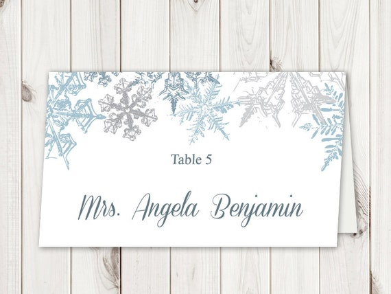 wedding place card template free word