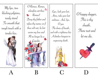 Romeo and Juliet Bookmarks