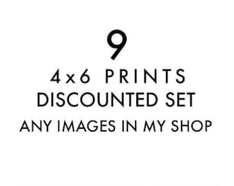 small print set, California home decor, 4x6 photography, your choice,  Los Angeles, San Francisco, beach, Joshua Tree, West Coast travel