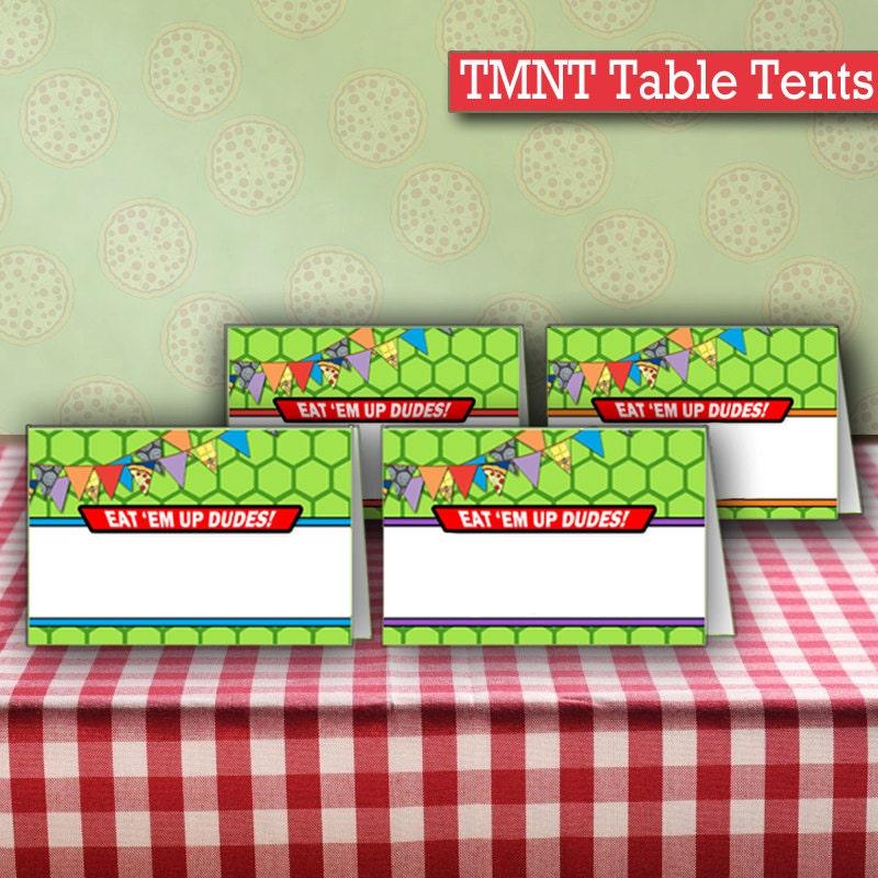 ?zoom  sc 1 st  Etsy & INSTANT DOWNLOAD Blank Ninja Turtles Birthday Food Table Tents