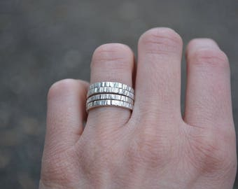 Tree Bark Stacking Rings,Stackings Rings, Sterling Stacking Rings, Silver Stack Rings, Textured Stacking Rings, Textured Rings,