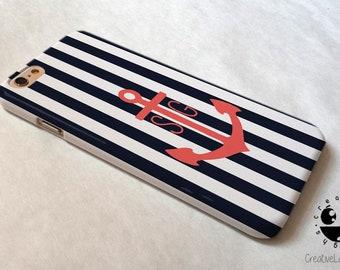 Nautical Anchor iPhone 8 Plus Case iPhone 8 case iPhone 7 case iPhone 7 Plus case  iPhone 6 case  iPhone 6s case iPhone 6 plus case Se Case