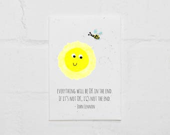 Everything Will be OK! Plantable Card