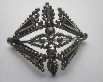Art Deco Cut Steel Brooch Pin