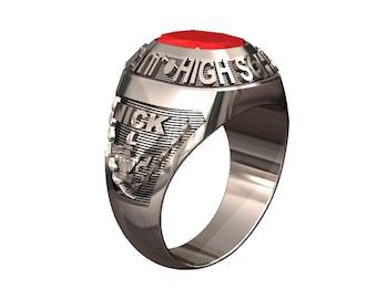 Sterling Silver School Ring