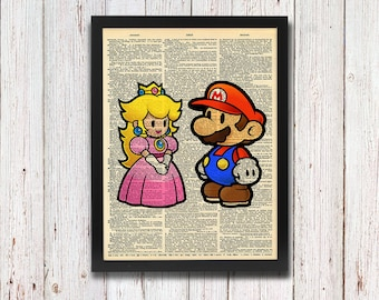 Paper Mario and Peach Dictionary Art