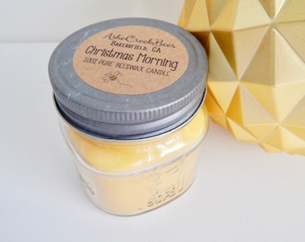 Christmas Morning Scented Pure Beeswax Candle