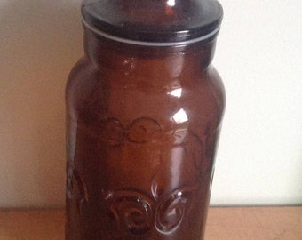 Apothicary apothecary jar, bottle, Lily, Lily, amber.