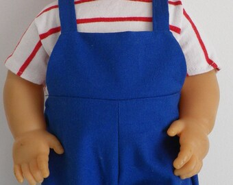 36-38 cm (ref 41) doll clothing: cotton overalls + way