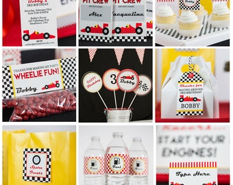 Race Car Birthday Party Decorations INSTANT Download - Racing Party by Printable Studio