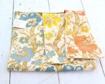 """1970s Italian """"Stockbridge"""" Pocketweave Fabric Sample"""