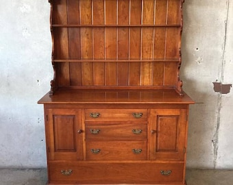 1967 Cherry Wood Stickley China Hutch (GUB6RS)