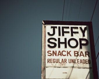 Modern Farmhouse Kitchen Decor, Vintage Gas Station Sign, Food Sign Photograph