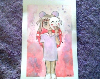 Pearlescent Watercolor Painting - Bearry