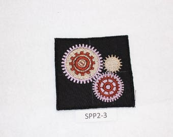 Embroidered Iron On Patch - 3 Gears - SteamPunk - SSP2-3 - FREE SHIPPING in US