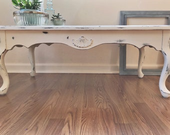 SOLD - French Provincial Coffee Table | Shabby Chic | Can Make Custom To Replicate