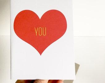 Valentine | Valentines Card | Valentine's Day Card | Love Card | I love you Card | Card for friend | Card for husband | Card for wifr