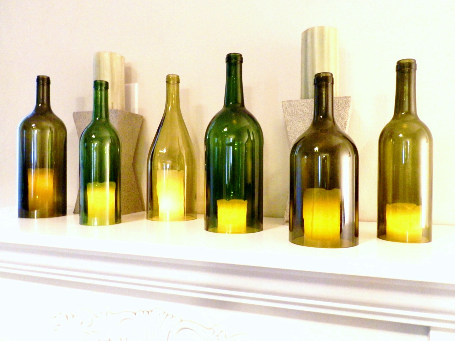wine bottle candle holder - Design Decoration