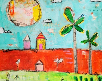 Whimsical Landscape Original Painting