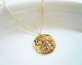 p dollar head gold indian necklace coin golden