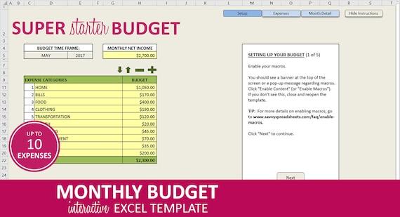 Fein Monatliche Planer Excel Vorlage Zeitgenössisch ...