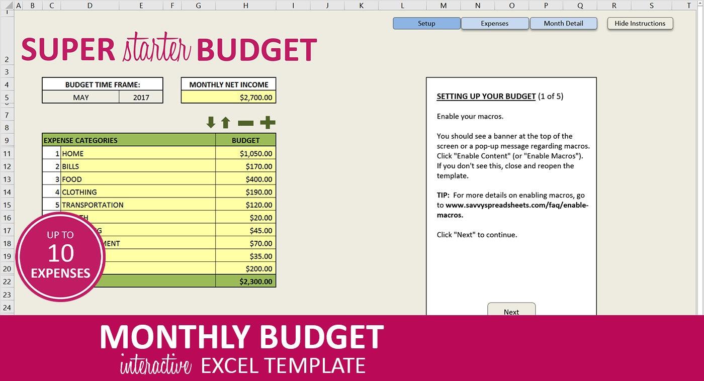 Tolle Startseite Monatliche Budgetvorlage Zeitgenössisch - Entry ...