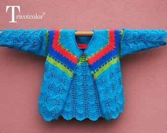 Poncho-chauffe épaule femme tricot laine tissage crochet