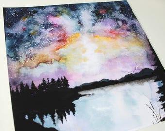 Galaxy Over Lummi Island Giclee Print
