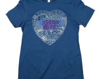 Music Is Love: ORGANIC Cotton American Apparel Ladies Tee