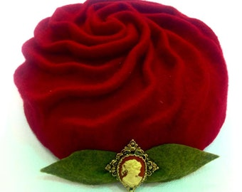 Victorian Rose Pillbox Hat