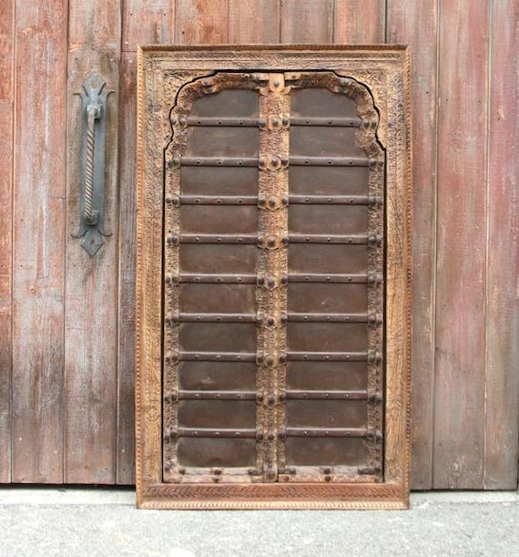 Stately Iron Strap Mandawa Door Iron Detailed Door Indian DoorRustic door Carved door Antique door spanish door Moroccan door door & Stately Iron Strap Mandawa Door Iron Detailed Door Indian