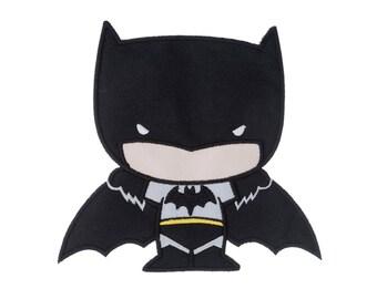 Batman Iron On Applique, Batman Patch, Genuine DC Comics Iron On Patch, Batman Applique, Superhero Patch, Embroidered Applique, Kids Patch