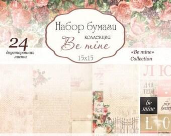 Scrapbooking paper pad 15 cm Wedding love