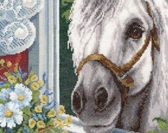 Cross stitch pattern PDF Horse My friend came